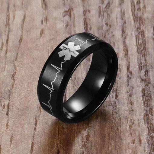 טבעת נישואין שחורה