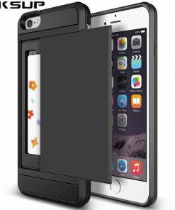 כיסוי טלפון עם תא לכסף וכרטיס אשראי