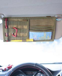ארגונית למגן שמש ברכב