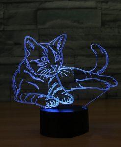 מנורת לילה חתול LED