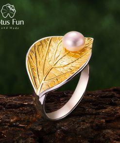 טבעת לוטוס מעוצבת מכסף