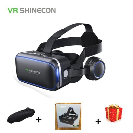 משקפי מציאות מדומה עם אוזניות מובנות