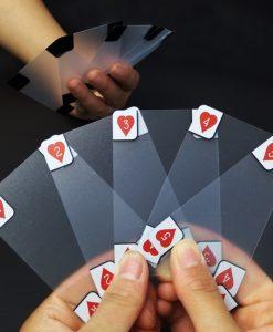 קלפי משחק שקופים