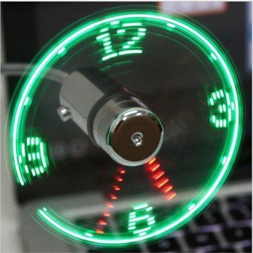 מאוורר USB עם שעון