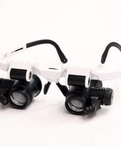 משקפיים מגדילות עם תאורה