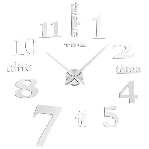 שעון קיר מדבקות מראה נוצצות