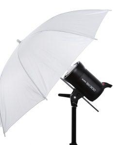 """מטריה לבנה 84 ס""""מ"""
