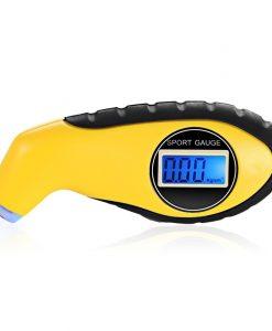 מד לחץ אוויר לצמיגים עם מסך LCD ותאורת LED