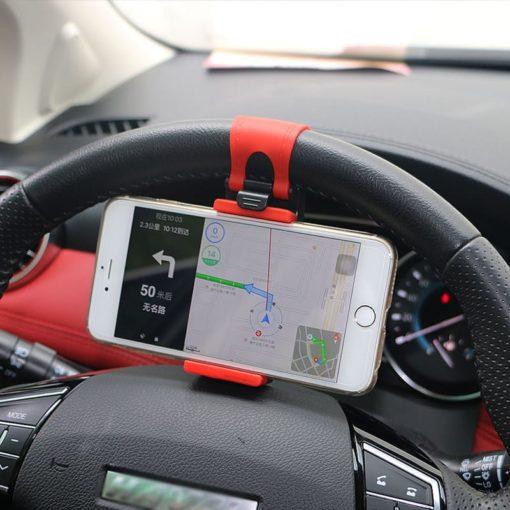 מחזיק טלפון נייד להגה הרכב