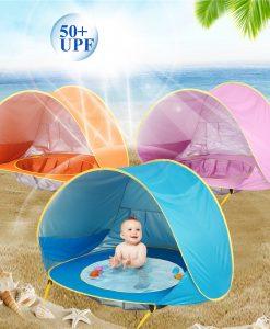 אוהל תינוקות לחוף הים