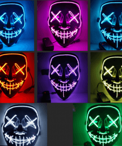 מסכת LED מפחידה