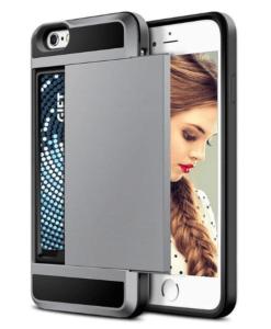 כיסוי טלפון עם תא לכסף וכרטיס אשראי לאייפון X 5 5S SE 6 6 S 7 8